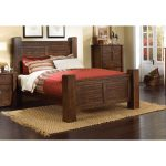 Dark Pine Queen Size Bed – Trestlewood