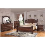 Dark Pine Traditional 6-Piece King Bedroom Set – Isabella