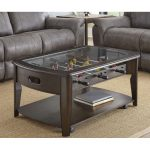 Dark Walnut Brown Coffee Table with Foosball – Diletta