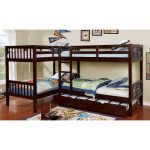 Dark Walnut Double Twin-over-Twin Bunk Bed with Trundle – Marquette