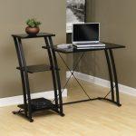 Deco Black/Glass Tiered Desk