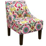 Desert Flower Swoop Arm Chair