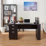 Desk with Builtin File Cabinet
