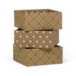 Diamond Pattern 3-Pack Decorative Storage Box (Small) – Shoe Storage