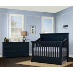 Distressed Navy Blue 5-in-1 Convertible Crib – Parker