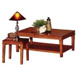 Distressed Oak 3 Piece Coffee Table Set – Odessa