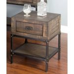 Distressed Rustic Brown End Table – Homestead Collection