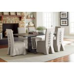 Dove Gray 5-Piece Dining Set with Parsons Chair – Muses