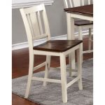 Dover White & Cherry 24 Inch Counter Stool