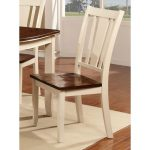 Dover White & Cherry Dining Room Chair
