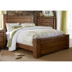 Driftwood Pine Rustic Contemporary King Size Bed – Maverick