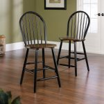 Edge Water Estate Black Counter Stool (Set of 2)