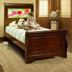 Edgewood Cherry LightHeaded Twin Sleigh Bed with Trundle