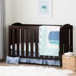 Espresso 2-in-1 Crib, Rail and Bedding – Angel