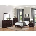 Espresso 6 Piece Twin Bedroom Set – Edina Collection