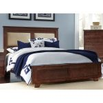 Espresso Brown Classic Upholstered King Size Bed – Diego