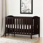 Espresso Brown Crib, Mattress & Toddler Rail – Angel