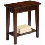 Espresso Brown Small Accent Table – Dentil