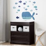 Espresso Changing Table and Wall Decals – Savannah