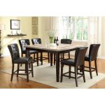 Espresso Contemporary 5-Piece Counter Height Dining Set – Montreal