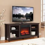Espresso Fireplace TV Stand