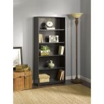 Espresso Oak 5-Shelf Bookcase – Cabot