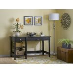 Espresso Oak Open Storage Desk – Broadview