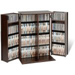 Espresso Small Locking Multimedia Storage Cabinet