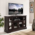 Espresso Wood Highboy TV Stand