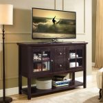 Espresso Wood Table TV Stand