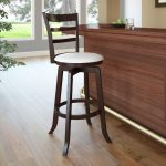 Espresso and White Ladder Back Bar Stool- Woodgrove