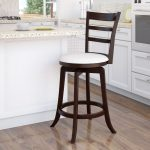 Espresso and White Ladder Back Counter Stool – Woodgrove