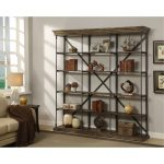 Extra Wide Hylas Brown Bookcase – Corbin