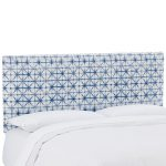 Filmore Azure Blue Upholstered Twin Headboard