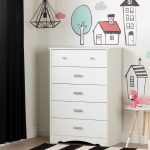 Five-Drawer Chest with Night Garden House in the Hood Wall Decals.