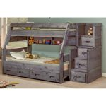 Fort Driftwood Rustic Twin-over-Full Bunk Bed