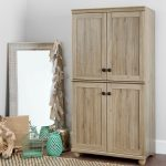 Four-Door Rustic Oak Storage Cabinet – Hopedale