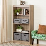 Four-Shelf Rustic Oak Bookcase – Axess