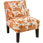 Garden Bird Orange Armless Chair