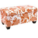 Garden Bird Orange Storage Bench