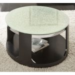 Glass Top Round Cocktail Table on Wheels – Croften