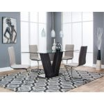 Glass and Chrome 5-Piece Dining Set – Holden