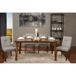 Gravel Linen Contemporary Dining Chair (Set of 2)