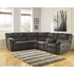 Gray 2-Piece Pewter Reclining Sectional – Tambo