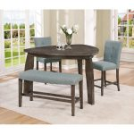 Gray 4-Piece Counter Height Tri-Table Dining Set – Hollis