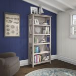 Gray 5-Shelf Bookcase – Key West