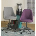 Gray Adjustable Upholstery Stool