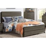 Gray & Black Contemporary Queen Size Bed – Oxon