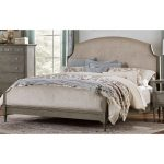 Gray Classic Traditional Upholstered King Size Bed – Albright