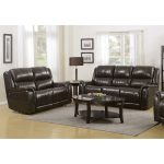 Gray Leather-Match Power Reclining Sofa and Loveseat – Hearst